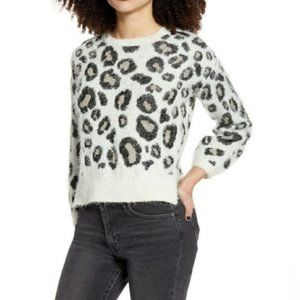 LOVE by Design Leopard Print Pullover Sweater